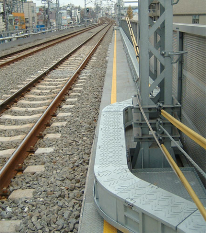 Railway cable duct around bends and obstacles.