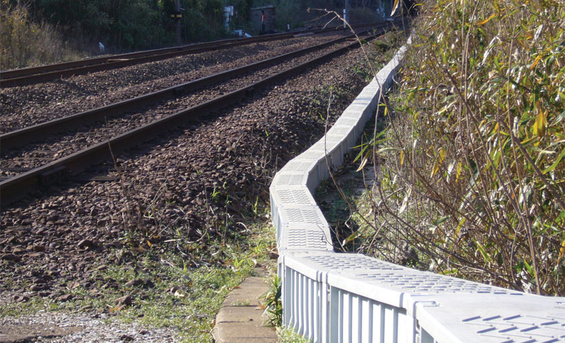 Green Trough lightweight cable trough installed on a Japanese railway line.