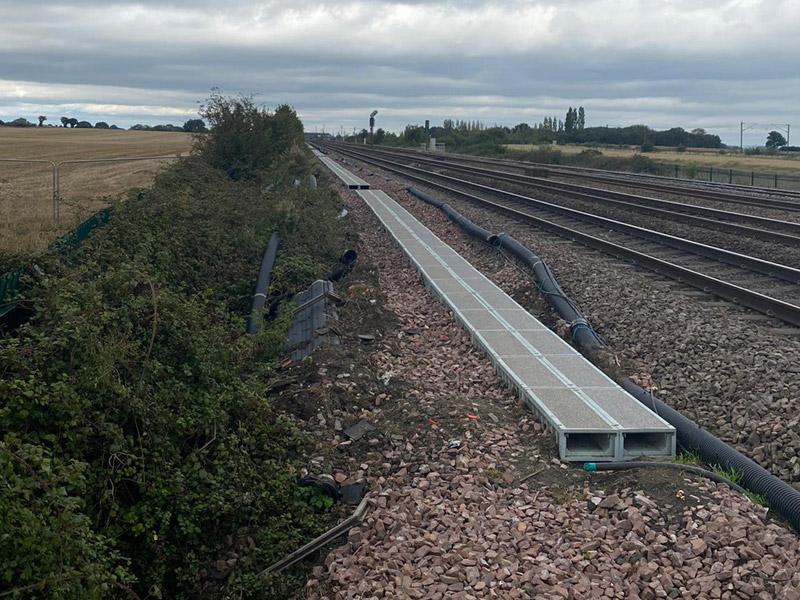Green Trough Walkway Installation for Network Rail